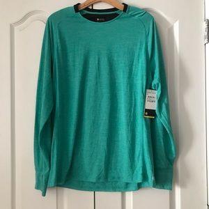 Zella Knit Running Workout Long Sleeve Top Blue M